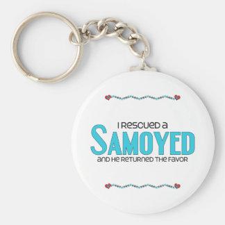 Rescaté a un samoyedo (el perro masculino) llaveros