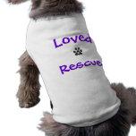 Rescate amado playera sin mangas para perro