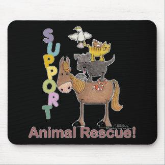 Rescate animal de la ayuda alfombrillas de ratones