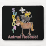Rescate animal de la ayuda tapetes de ratón