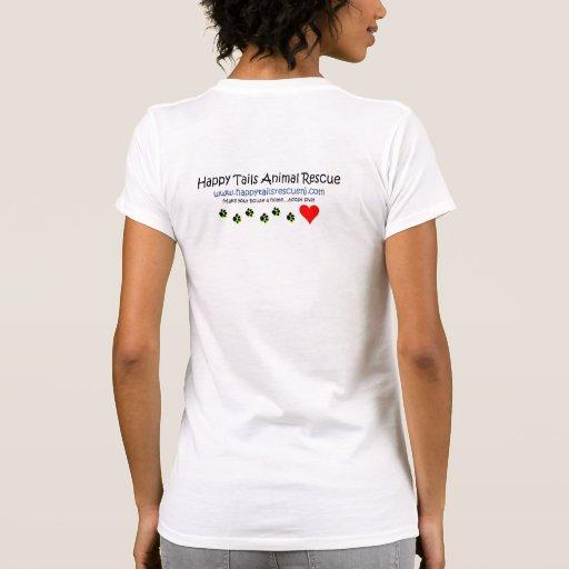 Rescate animal de las colas felices - usted me camisetas