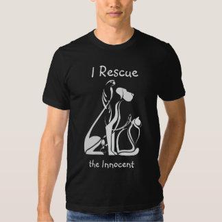 Rescate animal del rescate del mascota playeras