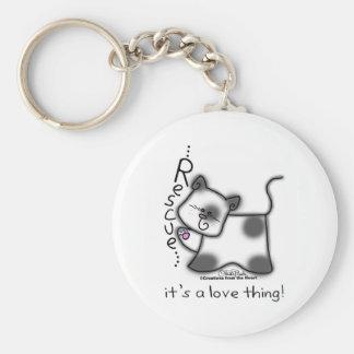 ¡RESCATE blanco y negro del gato… es una cosa del  Llavero Redondo Tipo Pin