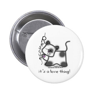¡RESCATE blanco y negro del gato… es una cosa del  Pin