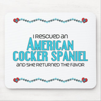 Rescaté cocker spaniel americano (el perro femenin mouse pad