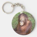 Rescate de los orangutanes llavero redondo tipo pin