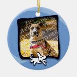 Rescate de los perros de la ciudad ornamentos de navidad