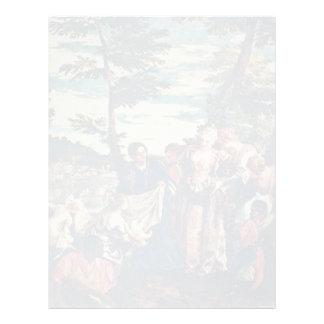 Rescate de Moses de las aguas de los muchachos del Plantilla De Membrete