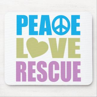 Rescate del amor de la paz alfombrilla de ratón