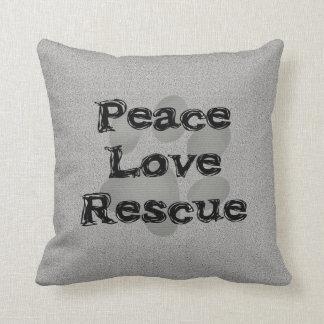 Rescate del amor de la paz de la adopción del cojines