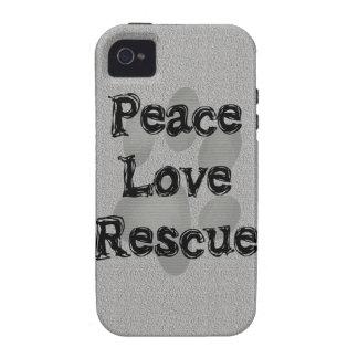 Rescate del amor de la paz de la adopción del iPhone 4 carcasas