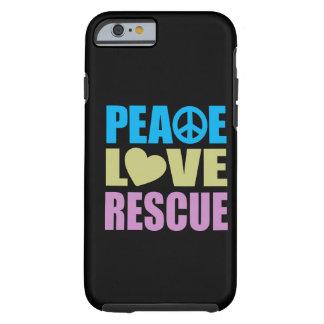 Rescate del amor de la paz funda de iPhone 6 tough