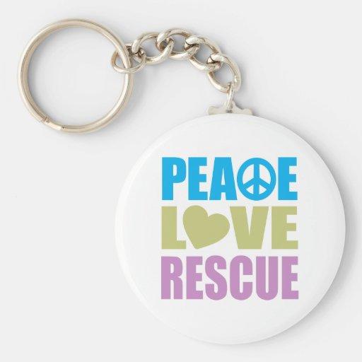 Rescate del amor de la paz llavero redondo tipo pin