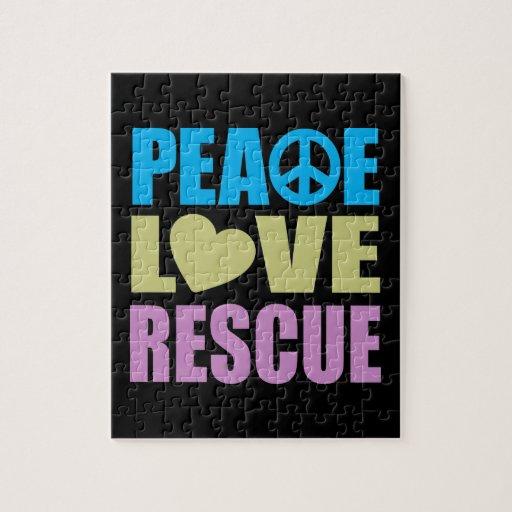Rescate del amor de la paz rompecabezas con fotos