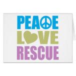 Rescate del amor de la paz tarjetas