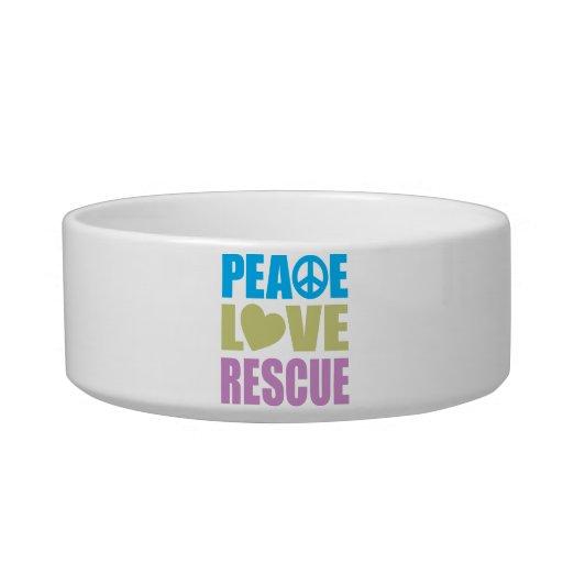 Rescate del amor de la paz tazones para agua para gatos