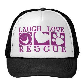 Rescate del amor de la risa gorros bordados