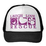 Rescate del amor de la risa gorras de camionero