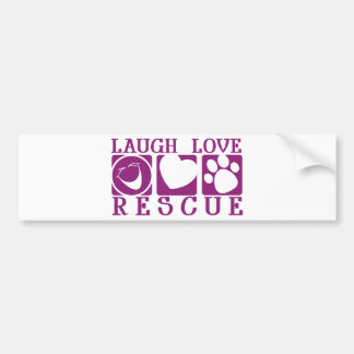 Rescate del amor de la risa pegatina para auto