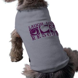 Rescate del amor de la risa playera sin mangas para perro