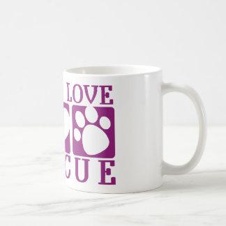 Rescate del amor de la risa taza básica blanca