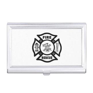 Rescate del bombero cajas de tarjetas de presentación