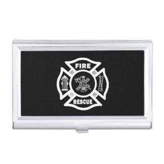 Rescate del bombero cajas de tarjetas de visita