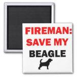 Rescate del bombero mi beagle iman para frigorífico