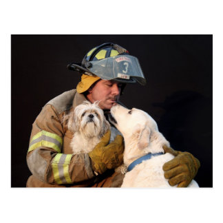 Rescate del bombero postales
