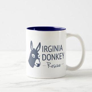 Rescate del burro de Virginia Taza De Café De Dos Colores