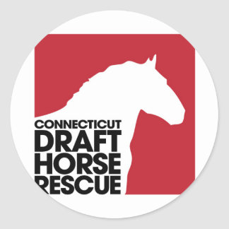 Rescate del caballo de proyecto del CT Pegatina Redonda