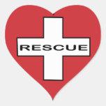 rescate del corazón pegatina de corazon personalizadas