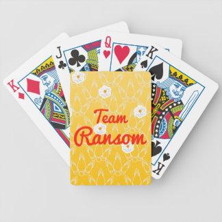 Rescate del equipo baraja de cartas