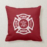 Rescate del fuego del bombero almohada