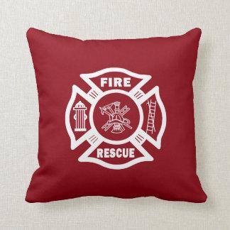 Rescate del fuego del bombero cojín
