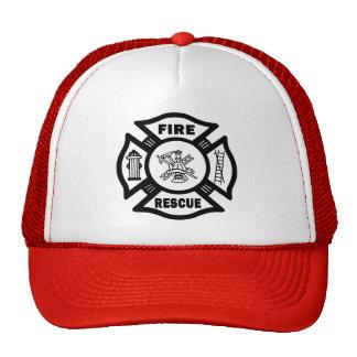 Rescate del fuego gorro de camionero
