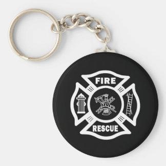 Rescate del fuego llavero personalizado