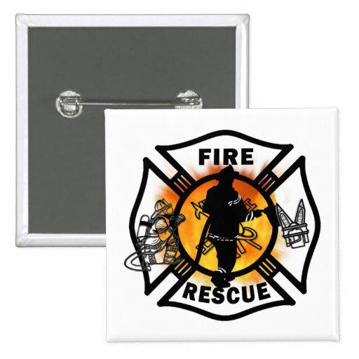Rescate del fuego pins