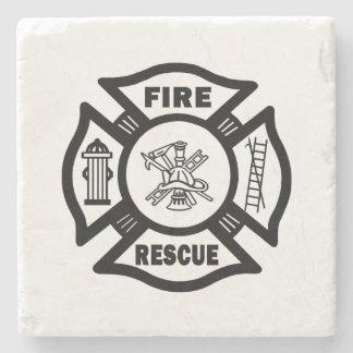 Rescate del fuego posavasos de piedra