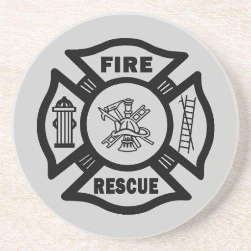 Rescate del fuego posavasos para bebidas