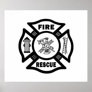 Rescate del fuego póster