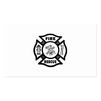 Rescate del fuego tarjetas de visita