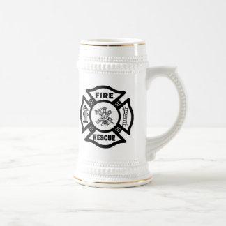 Rescate del fuego taza de café