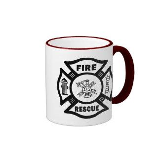 Rescate del fuego taza