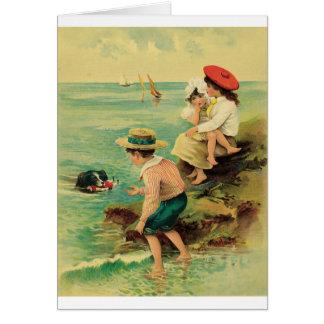 Rescate del mar tarjeta de felicitación