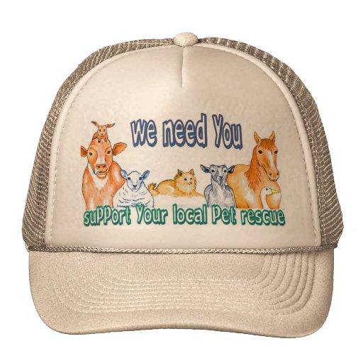 Rescate del mascota gorras