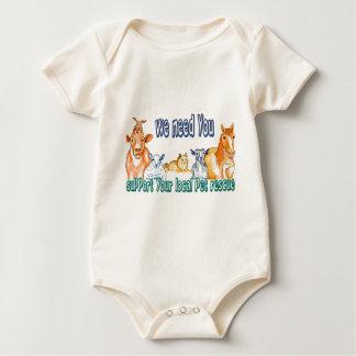 Rescate del mascota trajes de bebé
