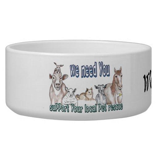 Rescate del mascota tazones para perro