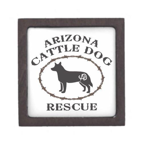 Rescate del perro del ganado de Arizona Caja De Recuerdo De Calidad
