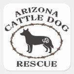 Rescate del perro del ganado de Arizona Pegatina Cuadradas Personalizadas